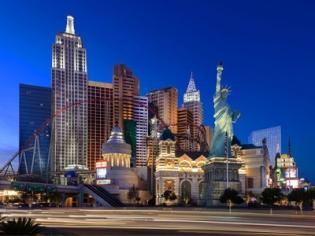 NYNY Las Vegas Hotel at Dusk