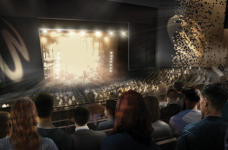 Rendering of new theater at Resorts World