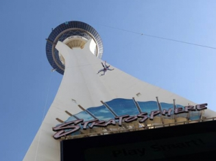 View from Base of Stratosphere Tower