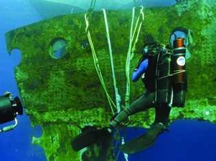 Diver for Titanic the Artifact Exhibition