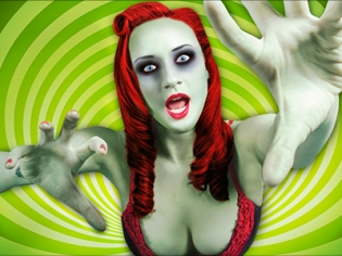 Zombie Girl with Red Hair